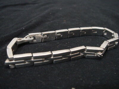 Sterling Silver Chain Link Large Mexico Bracelet TF-21