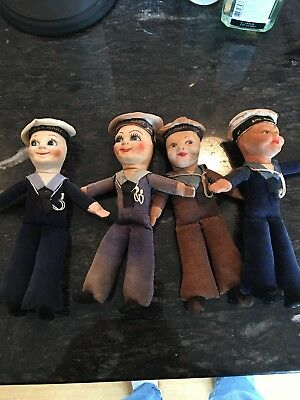 4 Vintage Cunard White Star Lines Queen  Mary Dolls Norah Wellings & Empire