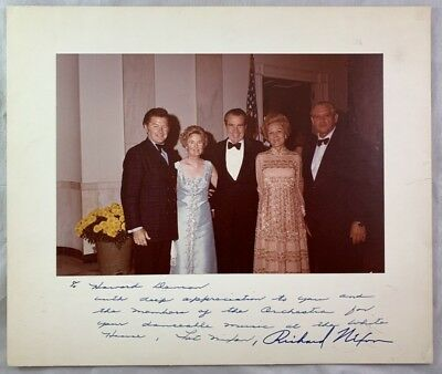 Vintage Hand Signed Autographed Photo President Richard Nixon The White House