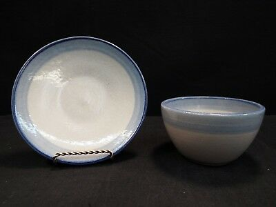"Set of (6) M A Hadley Blue Bowls & (5) 6"" Plates Match any Hadley Blue Pattern"