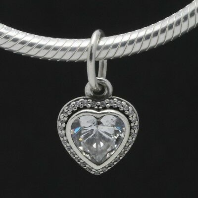 "NEW Authentic Pandora Sterling Silver ""Sparkling Love"" CZ Heart Pendant 390366CZ"