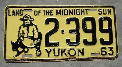 Canada 1963 Yukon Goldminer license plate #  2 - 399