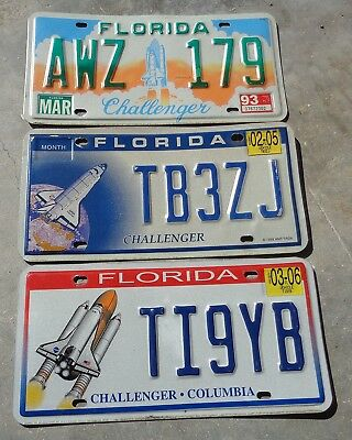 Florida 3 different Challenger , Columbia license plate