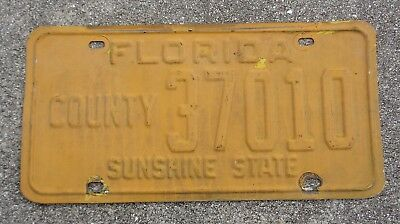 Florida County license plate #   37010