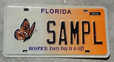 Florida Hospice Butterfly license plate #   SAMPLE