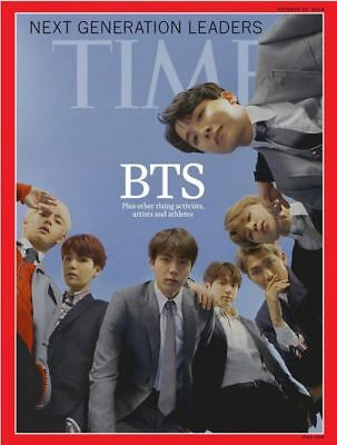 BTS Cover TIME Asian Edition October 2018+Unfolded Poster, safety tube wrapping