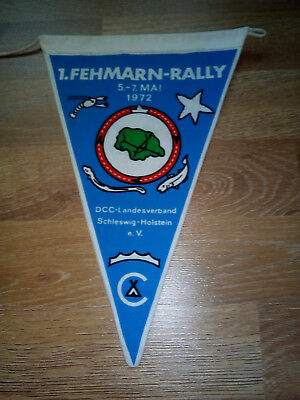 Camping Wimpel 1. Fehmarn-Rally Mai 1972, DCC Landesverband SH
