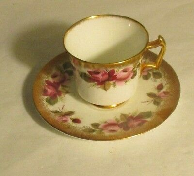 Royal Chelsea Cup & Saucer Bone China H. P. Made In England In Mint Condition