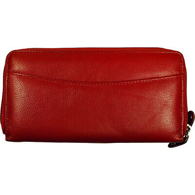 Budd Leather RFID Calf Double Zip Credit Card Wallet - Women's Wallet NEW