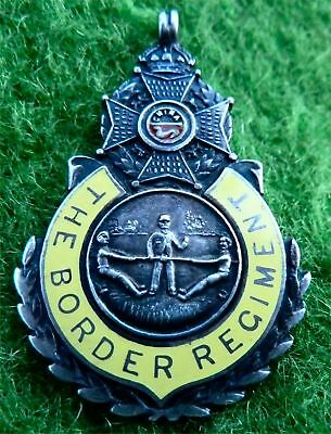 Border Regiment - Silver & Enamel Pendant Fob - Tug Of War Prize Awarded In 1930