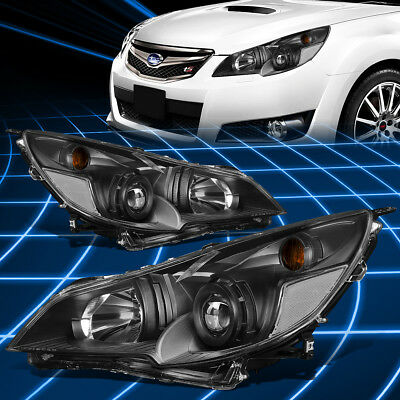 FOR 10-14 SUBARU Outback/Legacy Black Housing Projector Headlights  Replacement