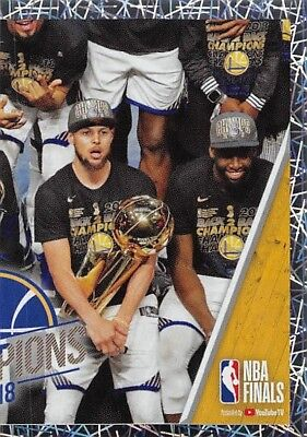 18/19 Panini Nba Sticker Foil #458 2018 Champions Warriors Durant Curry *58220