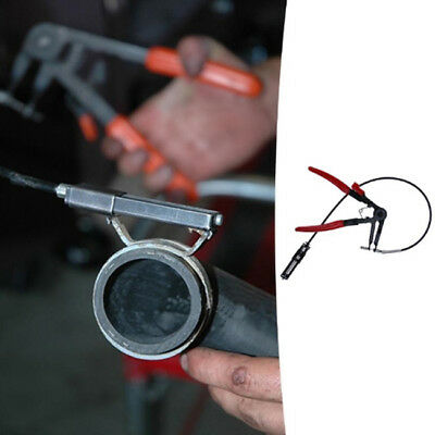 Auto Vehicle Tool Cable Type Flexible Wire Long Reach Hose Clamp Plier Repair LD