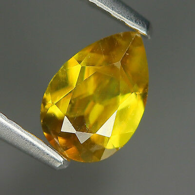 Comely 0.68 Ct Natural Africa Greenish Yellow SPHENE Pear Gem @ See Video !!