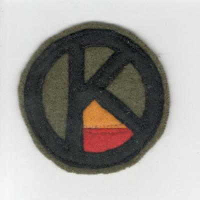 """WW 1 US Army 95th Division Ordnance 2-1/4"""" Patch Inv# C156"""