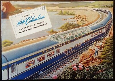 Baltimore & Ohio Railroad / 1949 New Columbian Advertising Brochure / Railway