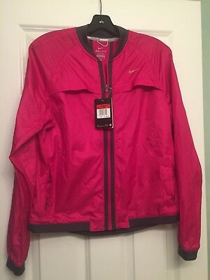 959dad4bff55 Nike Dri Fit Sphere Bomber Womens Track Running Jacket Thermal 520336 660   90