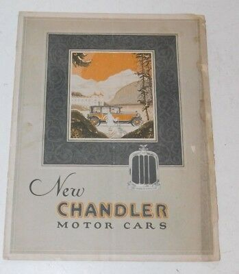 Late 1920's Chandler Motor Car Brochure with Royal Eight