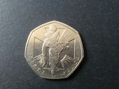 Wounded Soldier Victoria Cross 50p. 2006 Fifty Pence RARE MINT ERROR!