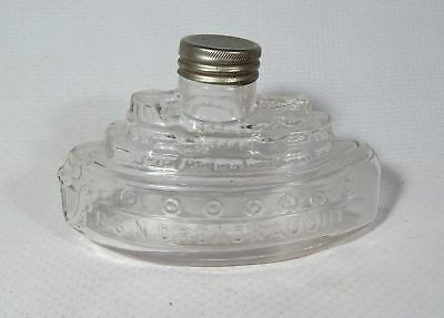 Figural Ship Bottle USN Dreadnaught