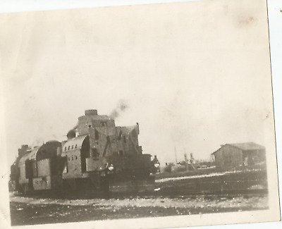 Ww1 Press Photo- Armored Train Speeding To Attack Russian Front