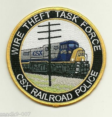 Wire Theft Task Force Unit Police Railroad Railway Police shoulder patch