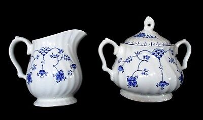 Myott Finlandia, Vintage Covered Sugar Bowl & Creamer