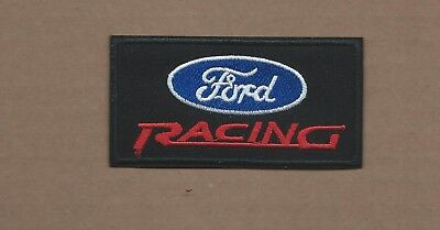 New 1 7/8 X 3 1/2 Inch Ford Racing Iron On Patch Free Shipping