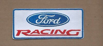 New 2 X 4 1/2 Inch Ford Racing Iron On Patch Free Shipping