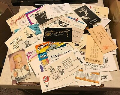 Magicians' Business Cards - About 130 - Collected 1980s-1990s