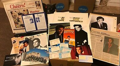 David Copperfield Photos Newsletters Promos Clippings 1980s-90s 40+ **Program