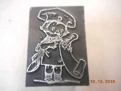Printing Letterpress Printer Block, Decorative Chef Boyardee, Printer Cut