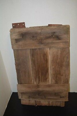 """VINTAGE BARN WOOD Naturally DISTRESSED WITH HINGES 24""""x14"""" RUSTIC Farm Salvage"""