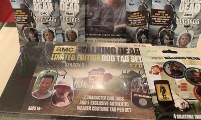 2018 TOPPS WALKING DEAD LIMITED DOG TAG BOX SET+4 Sealed Dog Tags&Sealed Coins