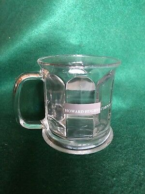 Vintage Howard Hughes Corporation Clear Glass Cup Coffee Mug Ca. 1980