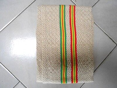 French Vintage fabric Linen TOWEL - colored Stripes -