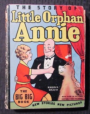 1934 The Story of LITTLE ORPHAN ANNIE GD- 1.8 Whitman HC Big Big Book