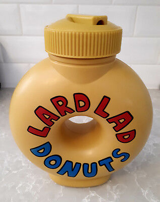 The Simpsons Lard Lad Donuts LIKE NEW Collectable Souvenir Drink Bottle TV Show