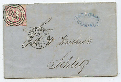 AD Thurn & Taxis Brief Frankfurt Schlitz 1866