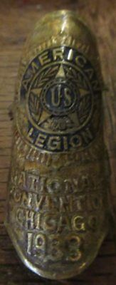 AMERICAN LEGION NATIONAL CONVENTION 1933 Chicago Walking Cane  Medalion