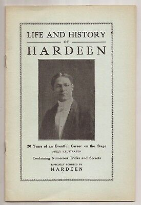 THE LIFE AND HISTORY OF HARDEEN by Theo Hardeen