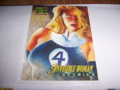 1995 Marvel Masterpieces Comic Chase Canvas Card #11 Invisible Woman