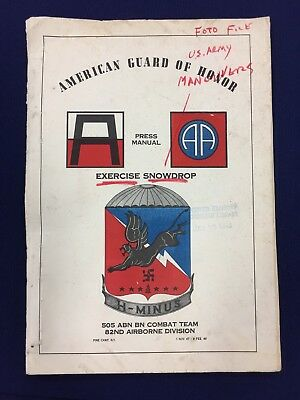 1947 Exercise Snowdrop Fort Drum NY Press Manual 505 Parachute, 82nd Airborne