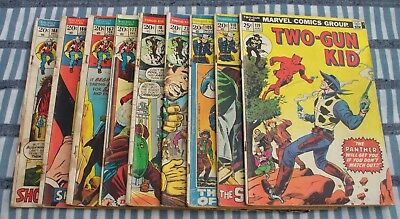 Mixed lot of 9 Marvel Western Comics Kid Colt, Rawhide, Two Gun 1972 to 1974
