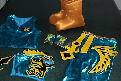 KIDS SUIT 6-10 year LYCRA KALISTO TURQUOISE FANCY DRESS COSTUME OUTFIT..-