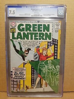 Green Lantern #7 Cgc 7.5 White Pages Origin & 1St Sinestro Appearance 1961