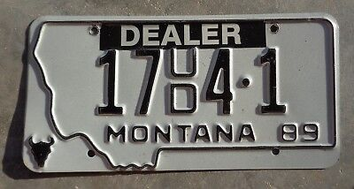 Montana 1989 Used Car Dealer  license plate #  17    4 -1