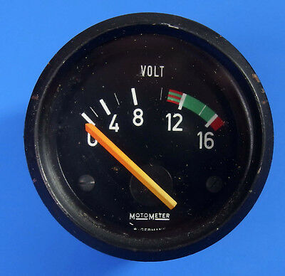 Cockpit Instrument MotoMeter VOLTMETER  Ø 52 mm