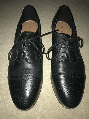 Next Black Leather Brogues Size 6