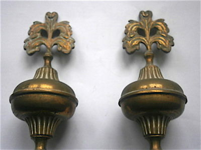 c1790  PAIR OF LONGCASE GRANDFATHER CLOCK FINIALS